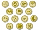 105 Gold Spanish-card Wedding coins